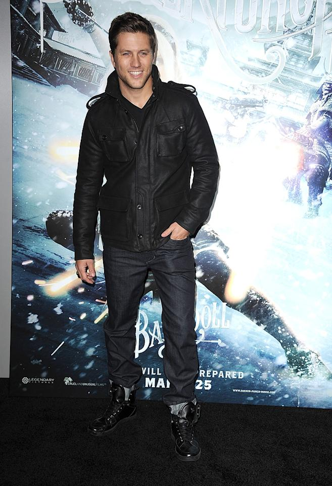"""<a href=""""http://movies.yahoo.com/movie/contributor/1800358502"""">Ross Thomas</a> at the Los Angeles premiere of <a href=""""http://movies.yahoo.com/movie/1810133258/info"""">Sucker Punch</a> on March 23, 2011."""