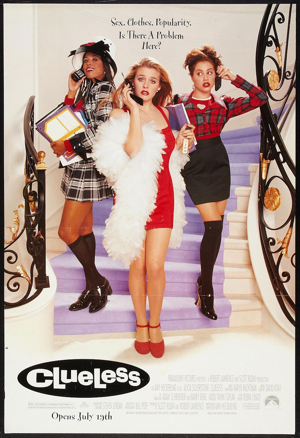 <p>Based on Jane Austen's book, <i>Emma</i>, this iconic '90s teen movie stars Alicia Silverstone as Cher, Stacey Dash as Dionne, and Brittany Murphy as Tai. While Cher and Dionne originally became friends with Tai because they wanted to give her a Beverly Hills makeover, they eventually become true friends, instilling confidence in each other. <i>(Source: Getty Images)</i></p>