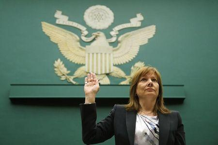 GM CEO Barra is sworn in to testify before House Energy and Commerce Oversight and Investigations Subcommittee hearing on Capitol Hill