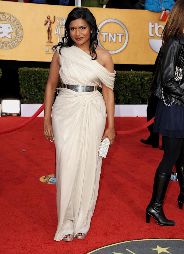 LOS ANGELES, CA - JANUARY 30: Actress Mindy Kaling arrives at the 17th Annual Screen Actors Guild Awards held at The Shrine Auditorium on January 30, 2011 in Los Angeles, California. (Photo by Steve Granitz/WireImage)