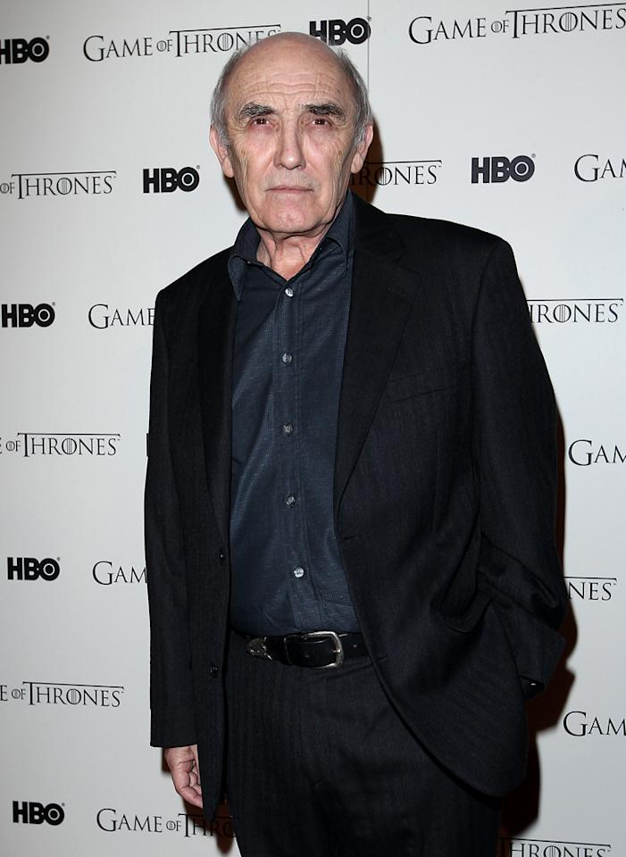 "Donald Sumpter attends the ""<span style=""text-decoration:underline;""></span><a target=""_blank"" href=""http://tv.yahoo.com/game-of-thrones/show/41208"">Game of Thrones</a>"" Season 1 DVD premiere at Old Vic Tunnels on February 29, 2012 in London, England."