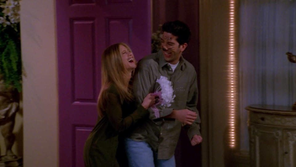 <p> The two-parter to end season 5 centres on Monica and Chandler calling a shotgun wedding based on her new-found success at the craps table &#x2013; only to be beaten to the punch by the heavily inebriated pair of Ross and Rachel. Drunkenness is tough to pull off on the small screen, but Schwimmer and Aniston&#x2019;s sozzled hotel room scene is both believable and hilarious, while light-relief storylines of Phoebe&#x2019;s slot-machine rival and Joey&#x2019;s hand-twin amuse too. </p> <p> <strong>Best line:</strong>&#xA0;Rachel: Hello? Vegas? Yes, we would like some more alcohol, and you know, we would like some more beers too. Hello? Oh, wait, I forgot to dial. </p>