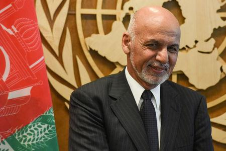 Afghanistan's President Ashraf Ghani poses for a photograph at the 72nd United Nations General Assembly at the U.N. headquarters in New York City, U.S., September 21, 2017. REUTERS/Stephanie Keith