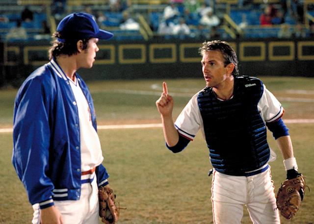Tim Robbins and Kevin Costner in <em>Bull Durham</em> (Photo: Orion/courtesy of Everett Collection)