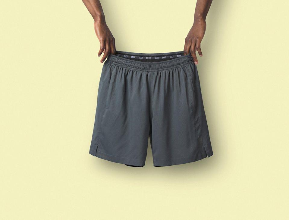 """<p><strong>2N1 Sport</strong></p><p>saxxunderwear.com</p><p><strong>$75.00</strong></p><p><a href=""""https://go.redirectingat.com?id=74968X1596630&url=https%3A%2F%2Fwww.saxxunderwear.com%2Fproducts%2Fsxks27_dch&sref=https%3A%2F%2Fwww.menshealth.com%2Ffitness%2Fg26286782%2Fbest-running-shorts%2F"""" rel=""""nofollow noopener"""" target=""""_blank"""" data-ylk=""""slk:Shop Now"""" class=""""link rapid-noclick-resp"""">Shop Now</a></p><p>What sets these running shorts apart is their """"ballpark pouch,"""" a hammock-shaped pouch built right into the liner, which offers friction-free support. Reflective details help you be seen when running at night, while on-seam pockets give you storage space without adding bulk.</p>"""
