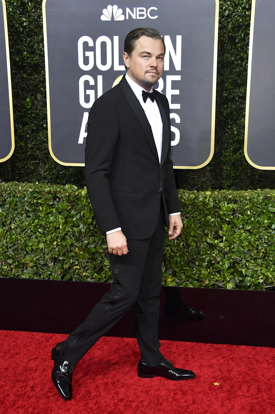 "<h1 class=""title"">Leonardo DiCaprio in Jimmy Choo shoes and David Yurman jewelry</h1><cite class=""credit"">Photo: Getty Images</cite>"