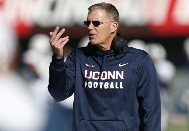 After a stint at Maryland, Randy Edsall returned to the University of Connecticut ahead of the 2017 season. (AP Photo/Gary Landers)