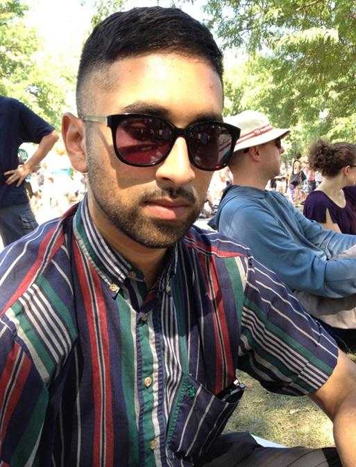 Tommy Mathew voted in Brooklyn