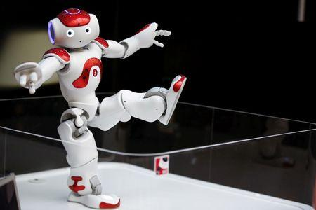 """Nao"" humanoid robot, that offers basic service information, moves at MUFG branch in Tokyo"