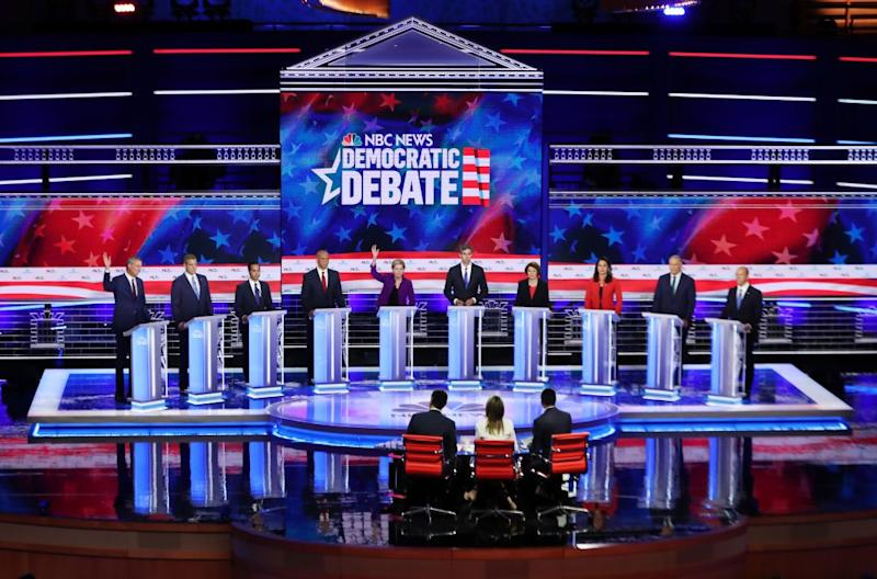 "(Bloomberg) -- The Democratic National Committee's debate-qualification rules are driving a social-media spending frenzy.But as the 2020 presidential campaigns spend millions to secure donors and push up polling numbers to win coveted debate slots, they're also discovering that the economics of online advertising can be confusing — and punishing. Between January 5 and July 13, some two dozen Democratic candidates collectively spent nearly $26 million on social-media ads, according to Bully Pulpit Interactive, an online communications agency. The biggest spenders so far have been Massachusetts Senator Elizabeth Warren, at $2.9 million, and Vermont Senator Bernie Sanders, at $2.6 million. While most candidates say they have benefited from social media and relish its ability to target specific groups in desired locations, its costs often fluctuate wildly, making it difficult to control expenses. With a crowded field of Democratic hopefuls competing for the same online audience, prices can skyrocket. Some candidates are even seeing a loss from their online investments, having spent millions on Facebook without reaping a bump-up in the polls.Some campaigns are in danger of being ""bled dry"" by spending well more than $1 to get a $1 contribution and meet the debate criteria, said Niko Duffy, managing director of Commonwealth Media, a digital strategy firm for liberal candidates. ""They've shifted their resources, as opposed to spending money on the ground in Iowa, to spending money to acquire these $1 donors.""Part of the problem, said Chris Nolan, founder of digital ad-buying firm Spot-On, is that campaigns are competing with deep-pocketed corporations and global brands for digital ad space. ""All online advertising is set up for the commercial space,"" she said, which can produce inequalities between what each campaign pays.'They've shifted their resources, as opposed to spending money on the ground in Iowa, to spending money to acquire these $1 donors.'The competition for ad space is likely to get worse, digital-ad experts said, under the DNC's tougher rules for the September and October debates. Candidates must have at least 130,000 unique donors — twice the number needed for the first two debates  — with at least 400 contributors from 20 states. They also must reach 2% in four DNC-approved polls, while the first debate required hitting either 1% in three polls or the donor target. The DNC said last week that 20 of 24 candidates qualified for the next debate, to be held July 30-31 in Detroit, but many have yet to meet the criteria for the fall rounds.After Warren and Sanders, the heaviest users of social media have been former Vice President Joe Biden at $2.5 million, and California Senator Kamala Harris and South Bend, Indiana, Mayor Pete Buttigieg both at $2.3 million. President Donald Trump spent more than any of them — $13 million — in the same period, according to Bully Pulpit data. Facebook, with more than 1.5 billion daily active users and the ability to micro-target audiences, has claimed the lion's share of the spending. The social-media giant can reach more specific demographics than TV ever could, digital experts said.Google is the second-favorite choice because of its ability to target ""hand-raisers,"" or individuals who have used the search engine to learn more about a candidate, online ad experts said. Twitter so far hasn't seen much action because most of the candidates are focused on fundraising over brand-building and raising visibility, Twitter's strengths.Some candidates have mastered the social-media fundamentals better than others. Julian Castro, the former Housing and Urban Development secretary and San Antonio mayor, turned to Facebook to drum up fresh donors following a widely praised June 26 debate performance. Because he dominated a discussion on immigration, he targeted ads at users who clicked on video clips of those exchanges, spending nearly $600,000 between June 29 and July 6, according to Bully Pulpit.That amount was well above the $70,000 to $100,000 per week that other Democratic candidates had spent on the platform, according to Acronym, a digital strategy firm for Democratic campaigns. ""Stand with Julian, let's get him to the next debates!"" said some of the ads, which came with a ""chip in"" button. His campaign believes it was money well-spent: On July 8, Castro announced he had hit the 130,000-donor target to make the September debate. Altogether, he spent $1.2 million on Facebook and Google ads over the six months ending July 13 — about 25% of the $4.1 million he has raised since announcing his candidacy in January, according to Bully Pulpit data and Federal Election Commission filings.Not everyone is having a positive digital-ad experience. Federal Communications Commission rules require candidates to get the lowest available rate to buy air time on TV, but no such regulations exist for the internet. And while TV ad rates are broadly predictable, social-media prices aren't.When a candidate is trying to reach specific voters in highly coveted target groups, ""the prices these campaigns pay on average may rise significantly,"" said Conor Gaughan, a senior adviser to Acronym, which ran digital campaigns during the 2018 midterms and isn't affiliated with any 2020 candidate.Facebook uses a cost-per-thousand impressions metric, or CPM, which means the rate is based on how often an ad appears on 1,000 users' news feeds. Candidates set their target audience parameters — males aged 21-35 living in Michigan who have expressed interest in the Democratic Party and trade policy, for example. Then the rate a candidate pays is determined by the level of demand for similar ad space.Rates ordinarily range between $10 and $25 for 1,000 Facebook users, said Acronym's Gaughan, but sometimes they spike to dizzying levels.  For ads seeking donors, the ""effective CPM"" — a number that allows comparisons between ad campaigns with different audience targets and goals — jumped as high as $100, he said.""I had never before in my career seen a $100"" rate for a display ad on Facebook, he said. ""That is so far outside the realm of normal.""In the weeks preceding milestone events such as debates, many of the 2020 candidates sought to maximize their exposure, driving up the cost. Between June 23 and June 29, for example, the Democratic candidates spent $3.7 million on Google and Facebook ads, almost 78% higher than the previous week, Acronym data show. The campaigns are also grappling with the fact that the highest bidder isn't always the one who wins the auction. To maintain traffic, Facebook's auction algorithm considers whether a user will click on an ad.Generally, campaigns must pay more for ads that ask for email addresses versus ones that simply try to get people to like or share something. Ads that target donors, especially first-time donors, cost even more.These rules have resulted in some candidates paying more to reach the same people — and at times have made political advertising seem like a futile exercise. Kirsten Gillibrand, who has raised $5.3 million since entering the race in January, spent about $1.9 million on Facebook ads through July 13. Yet her polls barely register 1%. Similarly, Amy Klobuchar, who has raised $9.1 million since she jumped into the race in early February, has spent  $1.6 million on digital ads and is averaging 2% in polls. ""This is not a system that's set up to encourage political discourse, it's a system set up to optimize political spending,"" Nolan said.To contact the author of this story: Misyrlena Egkolfopoulou in Washington at megkolfopoul@bloomberg.netTo contact the editor responsible for this story: Sara Forden at sforden@bloomberg.net, Paula DwyerFor more articles like this, please visit us at bloomberg.com©2019 Bloomberg L.P."