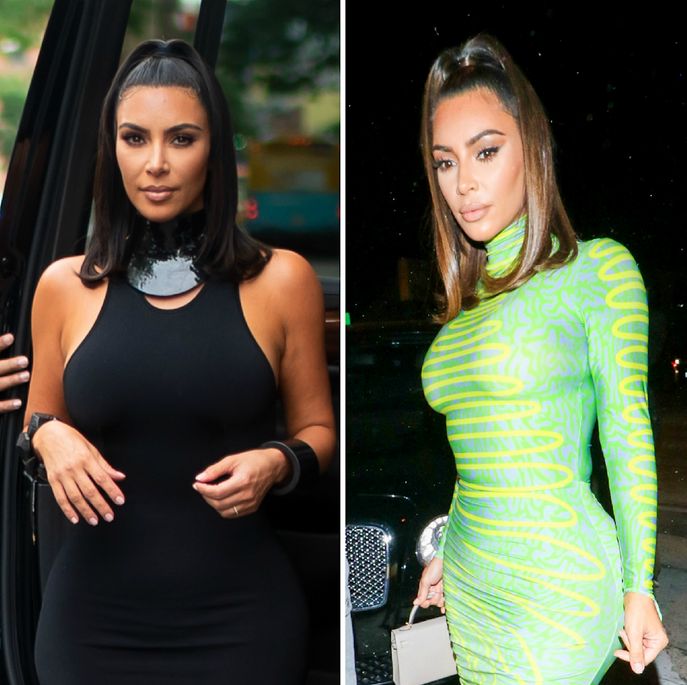 """Kim Kardashian West just debuted decidedly lighter strands for summer with the help of her go-to hairstylist, Chris Appleton. Appleton took to Instagram this week to show off the reality star's fresh new look, captioning the post, """"Who's into this Light frosted brown for summer?"""" Kim K. now has a chocolate-y brown hue with a subtle sheen to it. In fact, it almost looks bronze at certain angles, and yes, <em>raises hands</em> we're very much into it."""