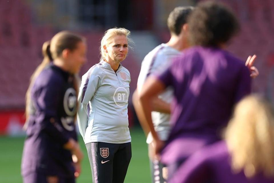 Sarina Wiegman will take charge of England for the first time as they host North Macedonia (Getty Images)