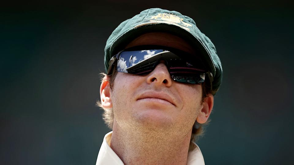 Steve Smith is seen here during the third Test at the SCG.