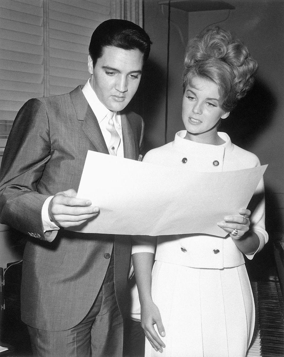 """<p>Presley costarred in <em>Viva Las Vegas</em> with Ann-Margret in 1963, and the two began a year-long affair. The Hollywood leading lady claimed that the relationship ended in 1964, when Presley believed she leaked to the <a href=""""https://www.foxnews.com/entertainment/elvis-presley-left-a-lasting-impact-on-ann-margret-says-tcm-host-ben-mankiewicz"""" rel=""""nofollow noopener"""" target=""""_blank"""" data-ylk=""""slk:tabloids that they were secretly engaged"""" class=""""link rapid-noclick-resp"""">tabloids that they were secretly engaged</a>.</p>"""