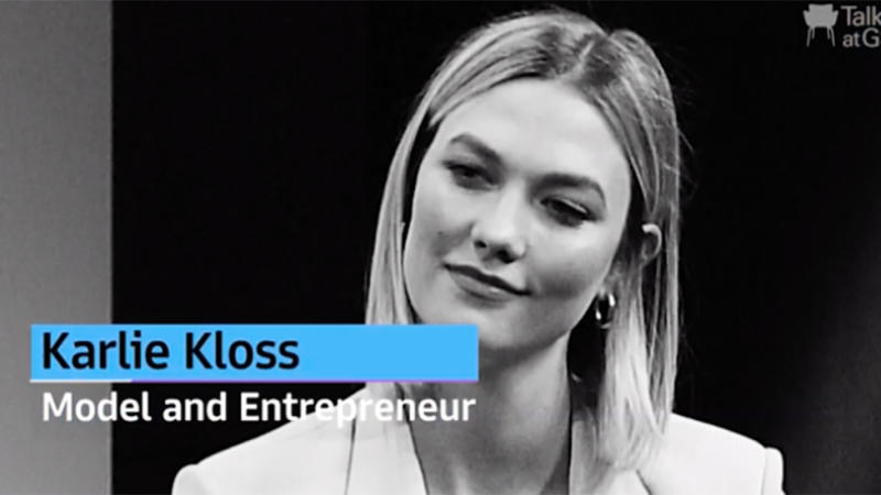 Karlie Kloss pictured on Talks with Goldman Sachs