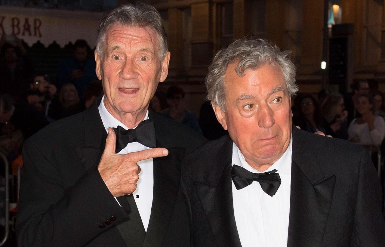 Michael Palin (L) and Terry Jones arrive for the 25th British Academy Cymru Awards at St David's Hall on October 2, 2016 in Cardiff, Wales. Credit: Horwood/Getty Images