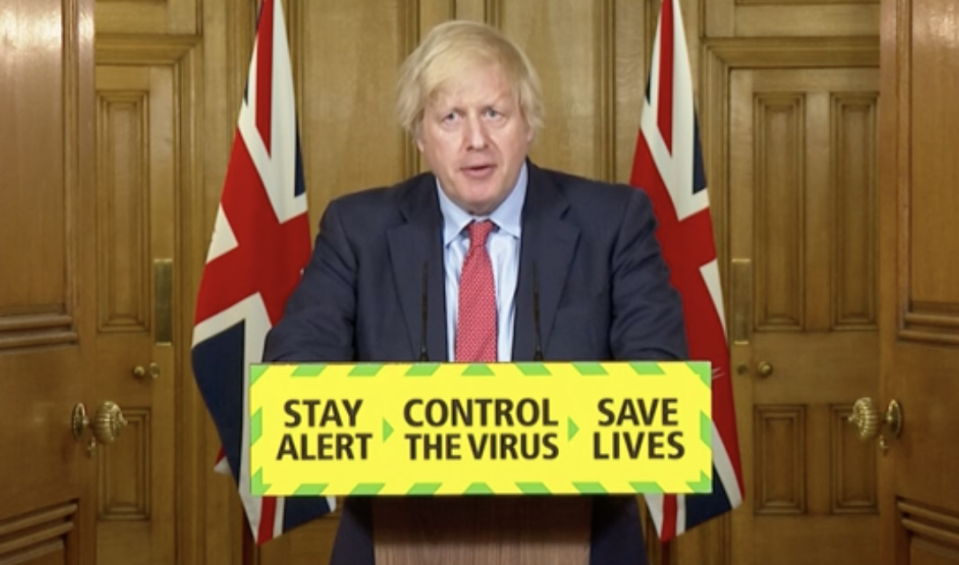 Boris Johnson announced 'support bubbles' as part of his latest easing of the coronavirus lockdown. (BBC)