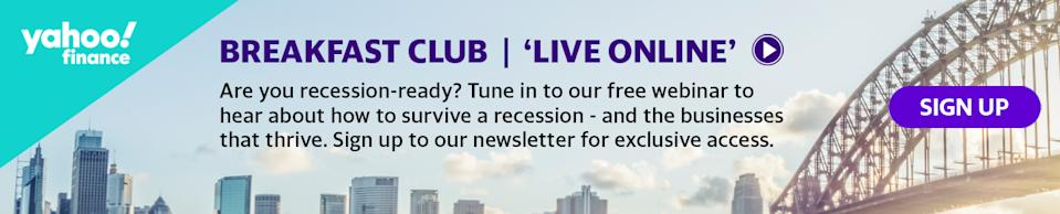 Tune into Episode 4 of the Yahoo Finance Breakfast Club: Live Online series on Thursday 21st May 10am AEST.