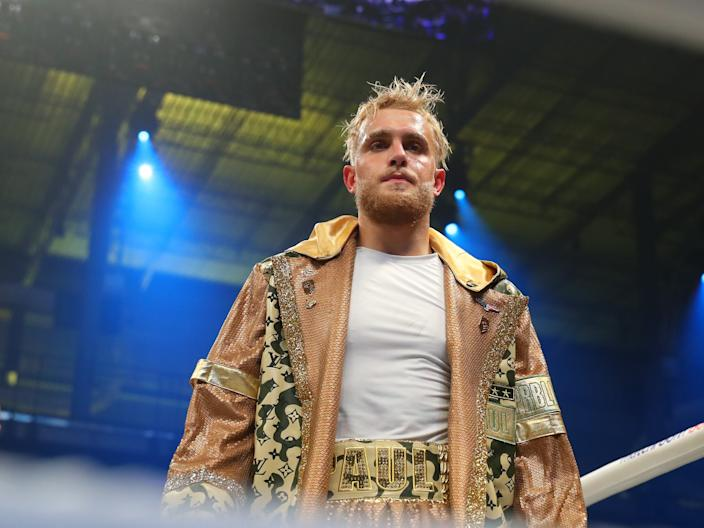 Jake Paul enters the ring on January 30, 2020 at the Meridian in Miami, Florida.