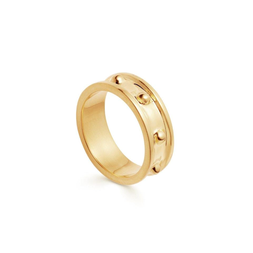 """The kind of engagement ring you can easily wear with other jewelry without having it be too distracting. $103, Missoma. <a href=""""https://www.missoma.com/collections/rings/products/gold-calima-ring"""" rel=""""nofollow noopener"""" target=""""_blank"""" data-ylk=""""slk:Get it now!"""" class=""""link rapid-noclick-resp"""">Get it now!</a>"""