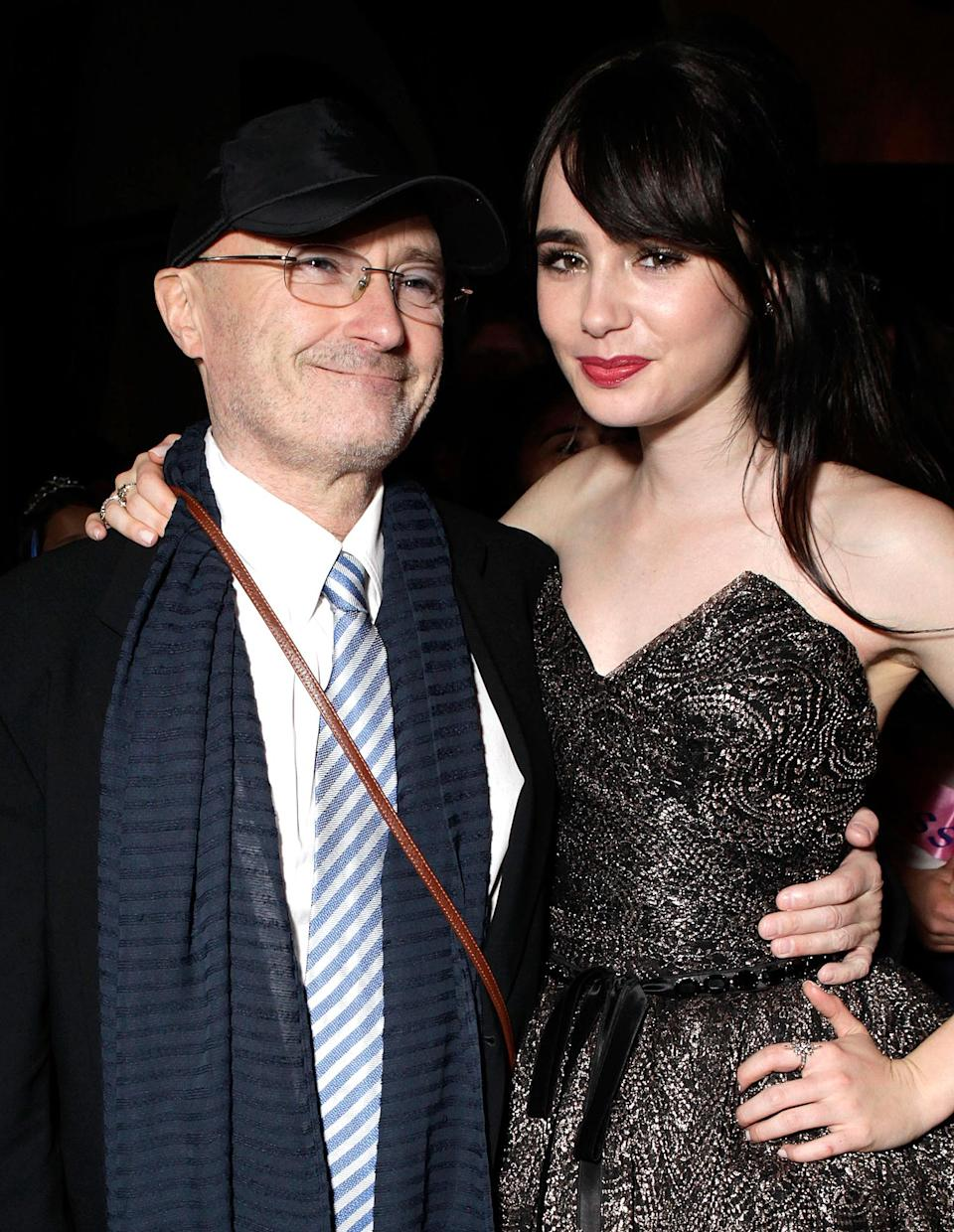 """<p>The actress said her rocker dad was delighted to hear her sing in <em>Rules Don't Apply.</em></p> <p>""""I didn't tell him I was doing it singing) until I sent him the trailer,"""" Lily said, according to <em><a href=""""https://www.music-news.com/news/UK/101855/Phil-Collins-very-proud-of-daughter-Lily-s-singing-in-new-movie"""" rel=""""nofollow noopener"""" target=""""_blank"""" data-ylk=""""slk:Music News"""" class=""""link rapid-noclick-resp"""">Music News</a></em>. """"So I sent him the newest trailer of just me singing, and he got back and he was like, 'Ugh, utterly fabulous!' He was very proud. He was really, really excited.""""</p>"""