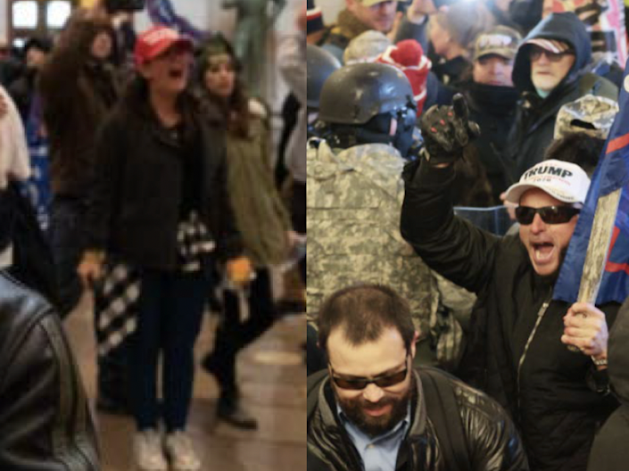 Rioters at the U.S. Capitol on Jan. 6, 2021