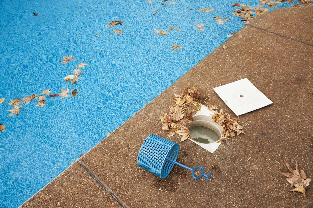 """<p>If a pool's water isn't sparkling and clear, don't even think about diving in. Not only does this condition suggests poor maintenance, but lack of visibility itself poses a threat. Be sure to also look out for broken or missing <a href=""""https://www.poolsafely.gov/simple-safety-steps-series-ensure-all-pools-and-spas-have-vgb-compliant-drain-covers-and-teach-your-children-to-stay-away-from-drains/"""" target=""""_blank"""">pool drain covers</a>, which are made to reduce entrapment—when the pool's powerful suction from the water circulation system causes someone to become trapped underwater. Check out <a href=""""https://www.youtube.com/watch?v=CULPxBSa_10"""" target=""""_blank"""">this video</a> from the ZAC Foundation to learn how a compliant and a non-compliant pool drain looks like.  </p>"""