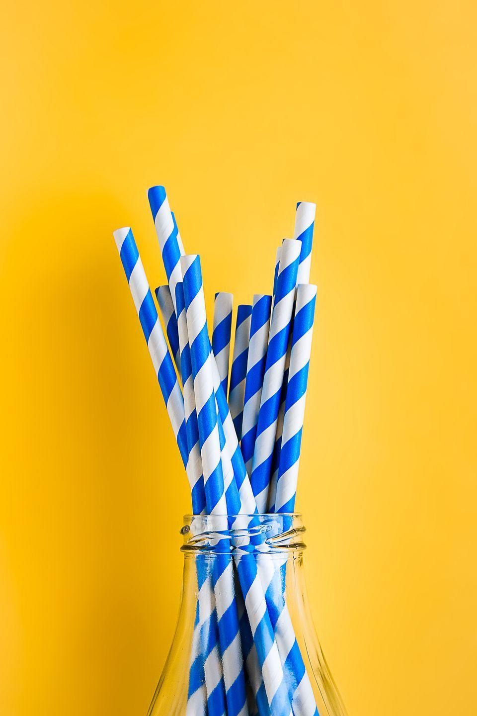 "<p>Americans use nearly <a href=""https://www.strawlessocean.org/faq/"" rel=""nofollow noopener"" target=""_blank"" data-ylk=""slk:500 million plastic straws every day"" class=""link rapid-noclick-resp"">500 million plastic straws every day</a>. Replace your plastic straws with <a href=""https://www.goodhousekeeping.com/home-products/a22561665/best-reusable-straws/"" rel=""nofollow noopener"" target=""_blank"" data-ylk=""slk:a set of reusable ones"" class=""link rapid-noclick-resp"">a set of reusable ones</a> made from stainless steel, silicone, or bamboo — the sea turtles will thank you.</p>"