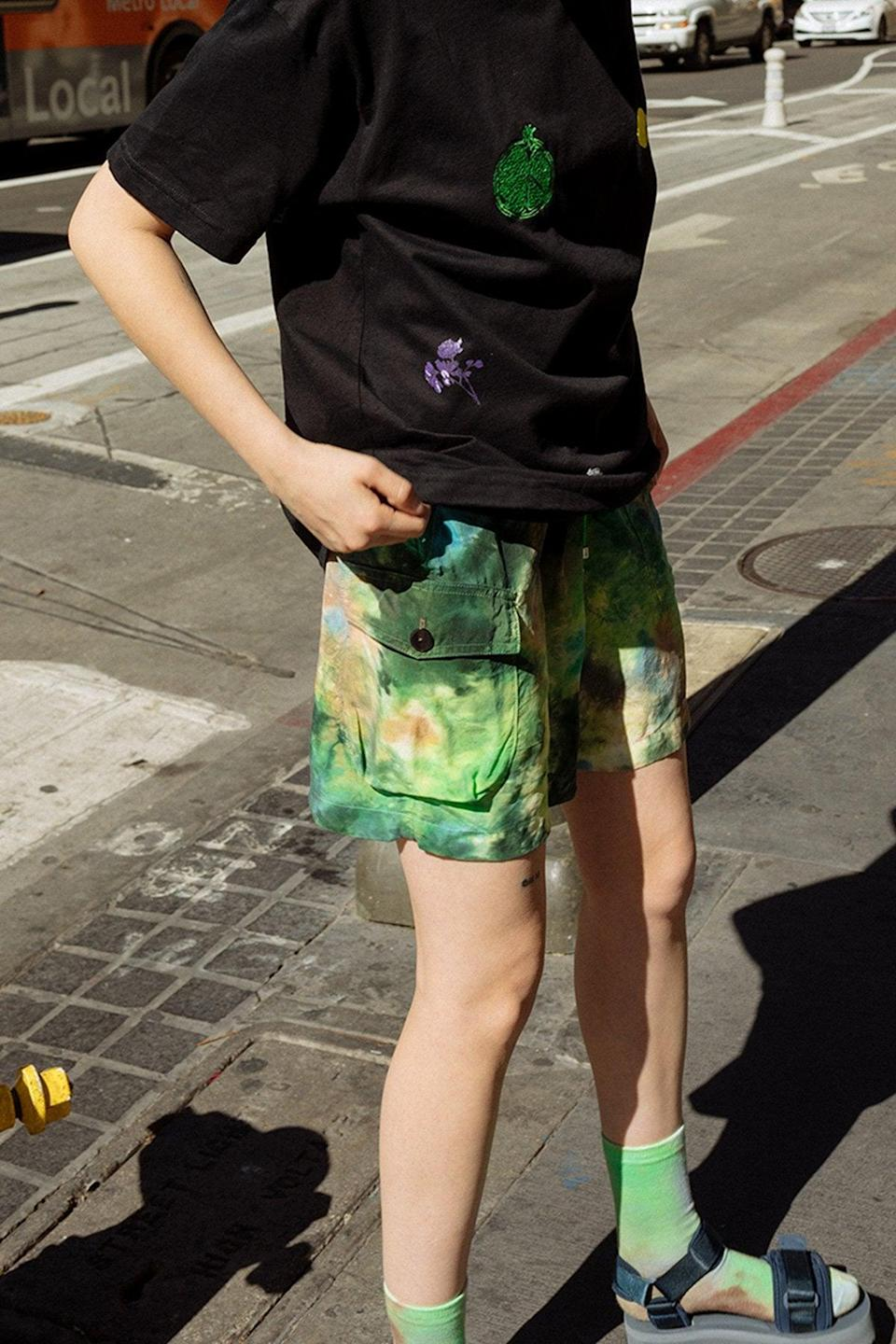 "<br><br><strong>KKCo</strong> Camp Short in Earth Tie-Dye, $, available at <a href=""https://go.skimresources.com/?id=30283X879131&url=https%3A%2F%2Fwww.kkcostudio.com%2Fcollections%2Farchive%2Fproducts%2Fcamp-short-in-earth-tie-dye"" rel=""nofollow noopener"" target=""_blank"" data-ylk=""slk:KKCo"" class=""link rapid-noclick-resp"">KKCo</a>"