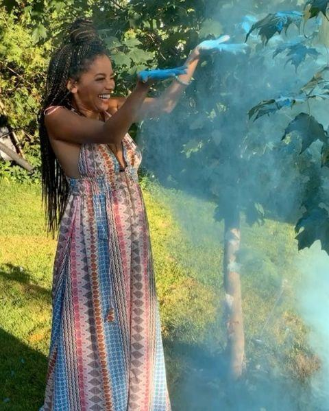 """<p><em>Riverdale </em>star Vanessa Morgan announced that she was pregnant for her first child and they've already had a gender reveal party. """"I do want to keep this chapter of my life private but did want to be the first to share the news. I am overjoyed to be welcoming my baby boy into the world this January,"""" she wrote on <em>Instagram</em>. """"Thank you God for this blessing ☺️ I'm just so happy & can't wait to dedicate everyday to being the best mommy I can be.""""</p><p><a href=""""https://www.instagram.com/p/CDCclmTpopp/"""" rel=""""nofollow noopener"""" target=""""_blank"""" data-ylk=""""slk:See the original post on Instagram"""" class=""""link rapid-noclick-resp"""">See the original post on Instagram</a></p>"""