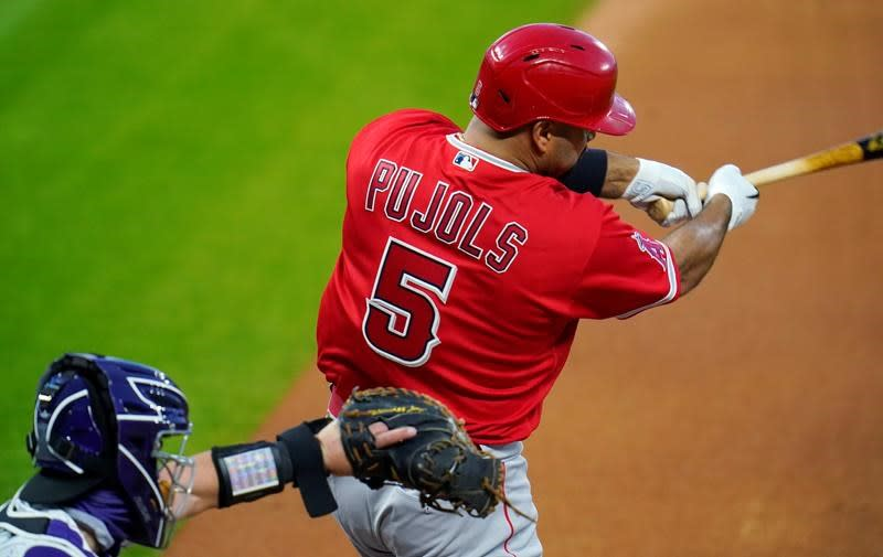 Pujols hits 660th career homer, ties Mays for 5th place