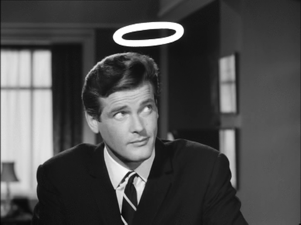 Roger Moore as Simon Templar 'The Saint'