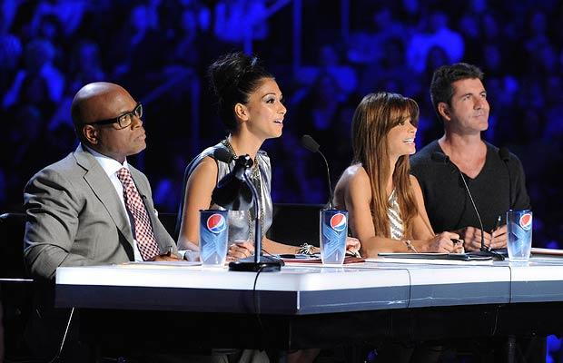 The former Pussycat Doll and her fellow judges. FOX
