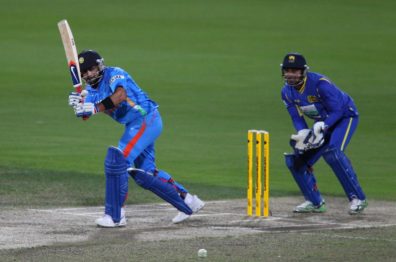 Virat Kohli of India bats during the One Day International match between India and Sri Lanka at Bellerive Oval on February 28, 2012 in Hobart, Australia.