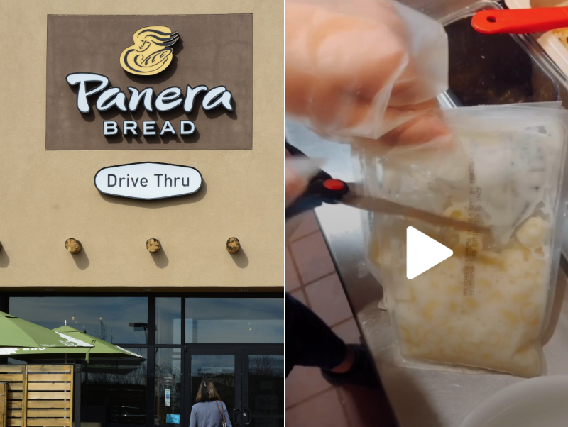 Video shows Panera mac and cheese is cooked in a bag