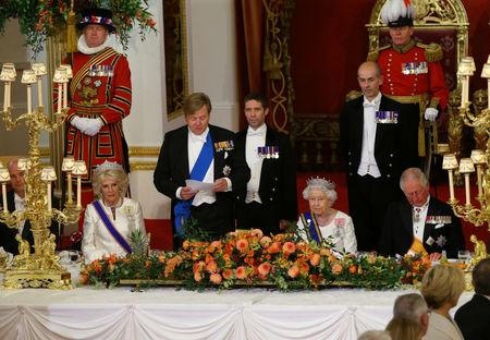 King Willem-Alexander of the Netherlands makes a speech during a State Banquet at Buckingham Palace, in London, Britain, October 23, 2018. Yui Mok/Pool via REUTERS