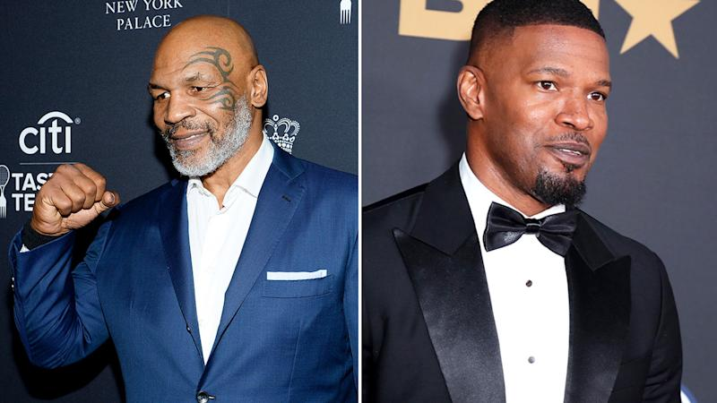 Pictured here, boxing great Mike Tyson and film star Jamie Foxx.