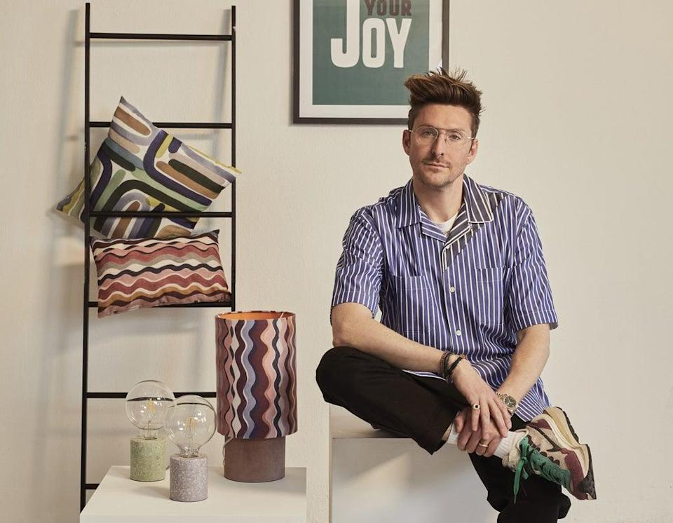 Henry Holland with his new homeware collection with Freemans (Freemans/PA)