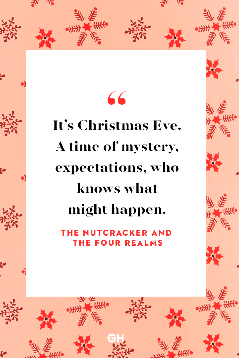 <p>It's Christmas Eve. A time of mystery, expectations, who knows what might happen.</p>