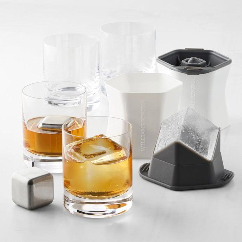 "<p>williams-sonoma.com</p><p><strong>$99.95</strong></p><p><a href=""https://go.redirectingat.com?id=74968X1596630&url=https%3A%2F%2Fwww.williams-sonoma.com%2Fproducts%2Fwhiskey-lovers-set&sref=https%3A%2F%2Fwww.redbookmag.com%2Ffood-recipes%2Fg34824733%2Fwhiskey-gifts-for-whiskey-lovers%2F"" rel=""nofollow noopener"" target=""_blank"" data-ylk=""slk:BUY IT HERE"" class=""link rapid-noclick-resp"">BUY IT HERE</a></p><p>Properly chilling whiskey without diluting its flavor or character is an art form. This attractive, sleek whiskey gift set is great for any whiskey drinker looking to level up their rocks game.</p>"