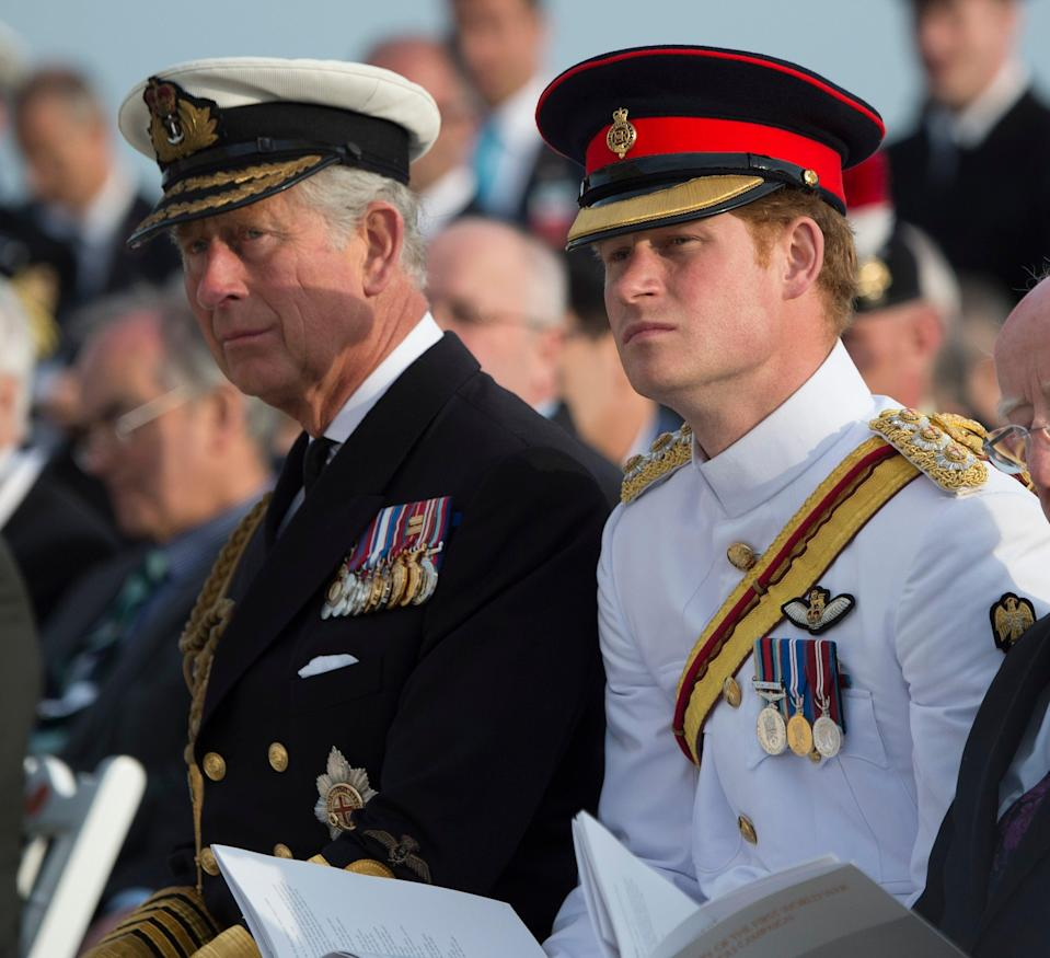The Prince of Wales and his son Harry (PA Archive)