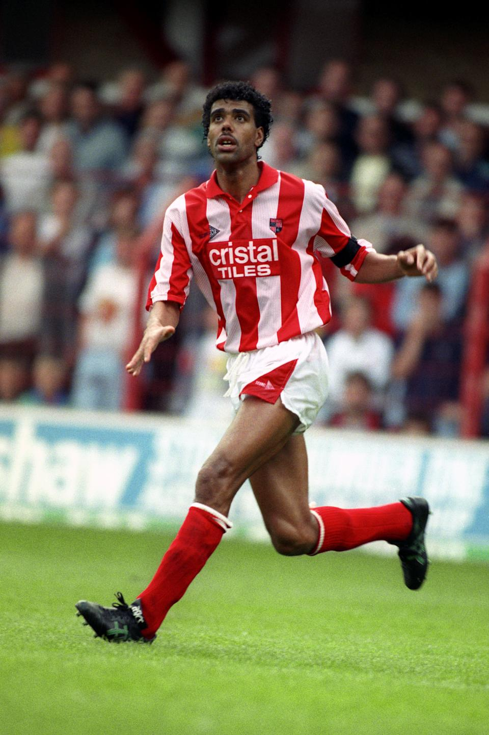 Chris Kamara, Stoke City  (Photo by Neal Simpson/EMPICS via Getty Images)