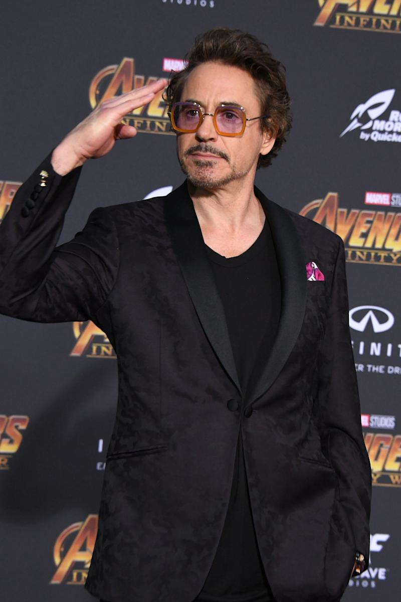 "Robert Downey Jr. arrives at the ""Avengers: Infinity War"" premiere."