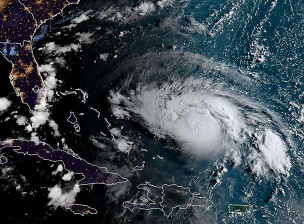 PHOTO: This satellite image obtained from NOAA/RAMMB, shows Hurricane Dorian as it approaches the Bahamas and Florida at 11:20UTC on August 30, 2019. (Jose Romero/AFP/Getty Images)