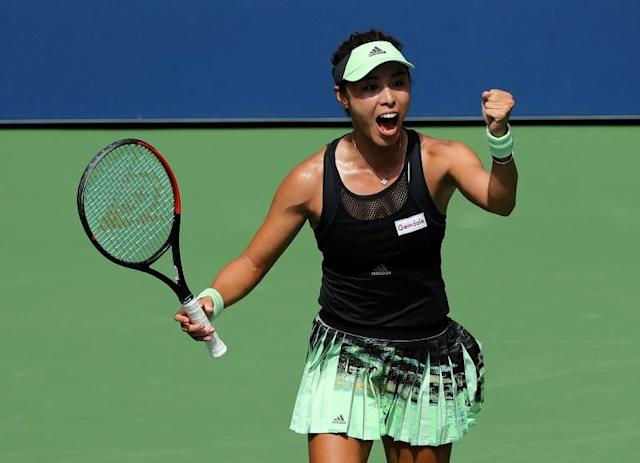 Wang Qiang is just the third Chinese woman to make the quarter-finals at the US Open (AFP Photo/ELSA)