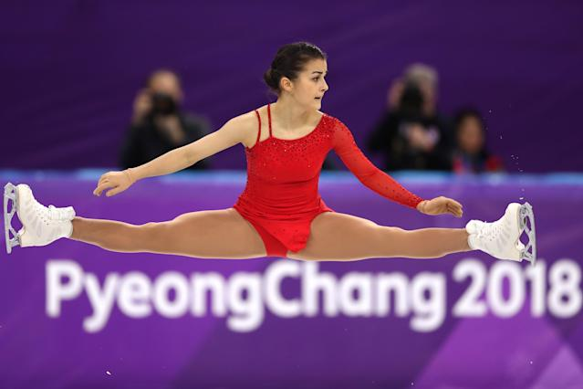 <p>Ivett Toth of Hungary competes during the Ladies Single Skating Free Skating on day fourteen of the PyeongChang 2018 Winter Olympic Games at Gangneung Ice Arena on February 23, 2018 in Gangneung, South Korea. (Photo by Richard Heathcote/Getty Images) </p>