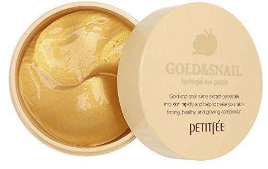 """Treat yourself to these patches with gold and snail slime eye extract that penetrate the skin quickly and help to firming and tighten for a healthy complexion. Get them <a href=""""https://www.amazon.com/gp/product/B014BVW62S/ref=as_li_tl?ie=UTF8&tag=bustle4109-20&camp=1789&creative=9325&linkCode=as2&creativeASIN=B014BVW62S&linkId=74b97f4abf5439a579ff0c18f841c862"""" target=""""_blank"""">here</a>."""
