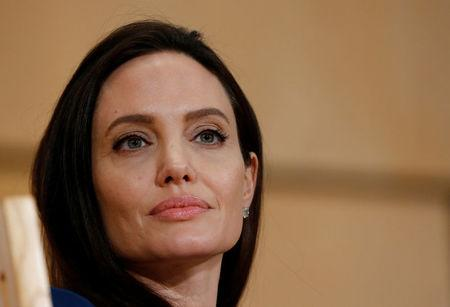 U.S. Actor and UNHCR Special Envoy Jolie attends a conference at the UN in Geneva