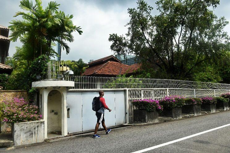 The house at Oxley Road in Singapore (Photo: AFP/Roslan Rahman)