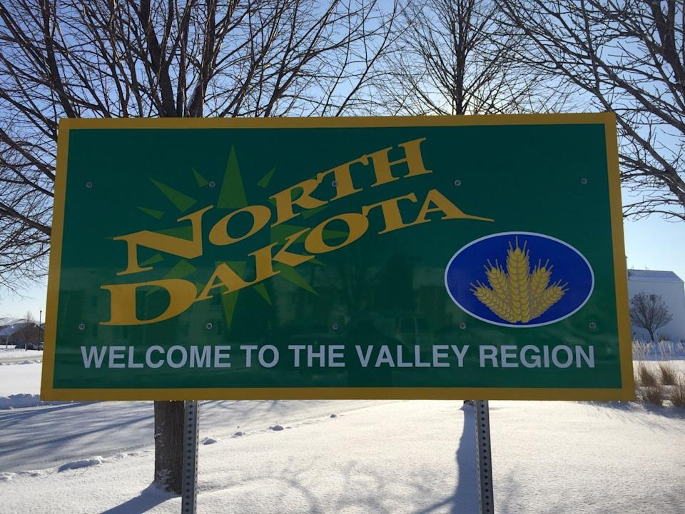 north dakota state welcome sign